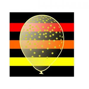 111208 Zlatne Konfete Stampani Transparentni Latex 12 inch