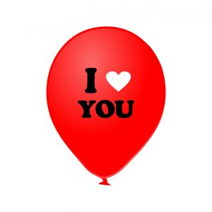 111703 I Love You Crveni Latex 12 inch