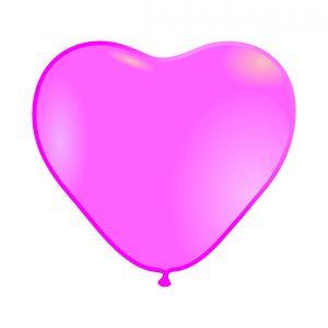 118002 Roze Srce Latex 12 inch