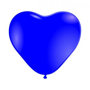 118006 Plavo Srce Latex 12 inch