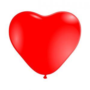 118000 Crveni Srce Latex 12 inch