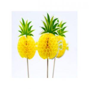 Dekor koktel sace ananas 6kom.310100.150din