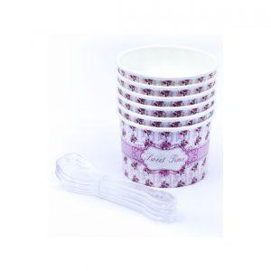 Papirne case za sladoled roze 6kom.371006.250din