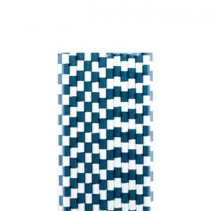 Papirne slamcice belo-plavi kvadratici 25kom.331019.150din