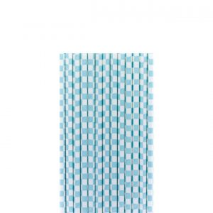 Papirne slamcice belo-turkiz kvadratici 25kom.331021.150din