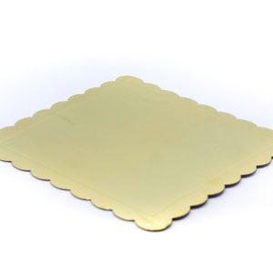 Podmetac za Podmetac ztortu zlatni kvadrat 25,5cm.381004.160din